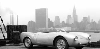 Porsche supercars: 550 Spyder on NYC dock, 1953. Credit: Porsche AG