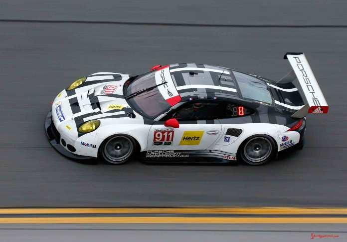 Porsche North America 2016 Post-Roar Report: No. 911 Porsche 911 RSR of Patrick Pilet, Nick Tandy and Kevin Estre on Daytona track at ROAR. Credit: Porsche AG