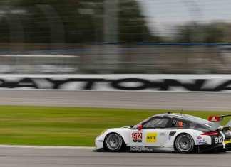 Porsche North America 2016 Post-Roar Report: 911 RSR No. 912 of Bamber, Makowiecki and Christensen on 2016 Daytona ROAR track. Credit: PAG