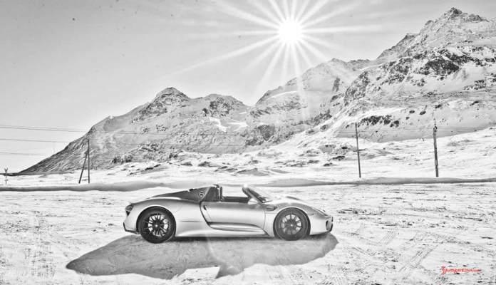 918 Spyder in snow, Picture Book, Stefan Bogner. Credit: Porsche AG