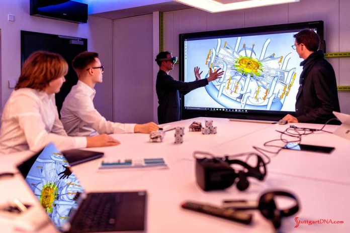 Porsche Inno-Space quality-control program: A demonstration of how Inno-Space can be uploaded into the factory's central database and shared worldwide. Credit: Porsche AG