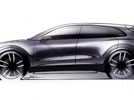 Seen here is a design sketch of the proposed 2019 Cayenne. Credit: Porsche AG