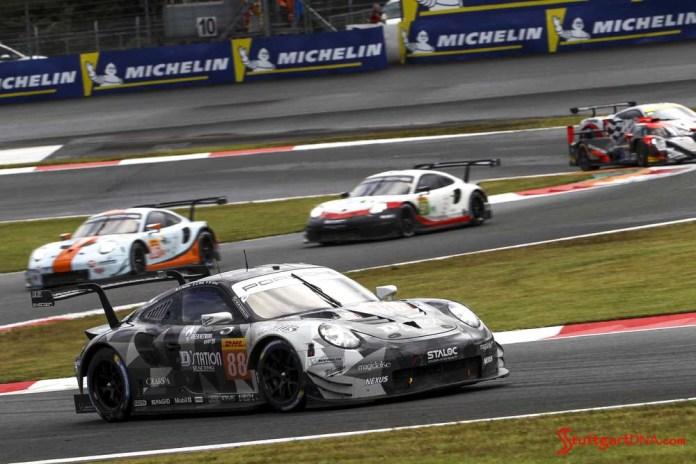 Porsche wins 2018 WEC Fuji 6 Hours: No. 88 Dempsey-Proton Racing Porcshe 911 RSR on track. Credit: Porsche AG