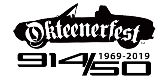 Seen here is the logo for Okteenerfest 2019 (lrg) - in celebration of 50 years of the Porsche 914. Credit: Okteenerfest