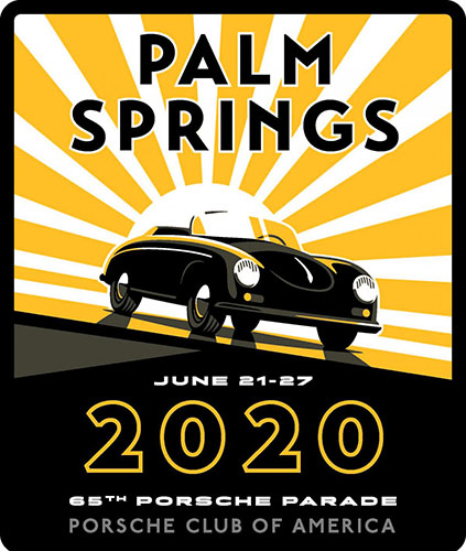 Porsche Parade 2020 Logo. Credit: Porsche Club of America