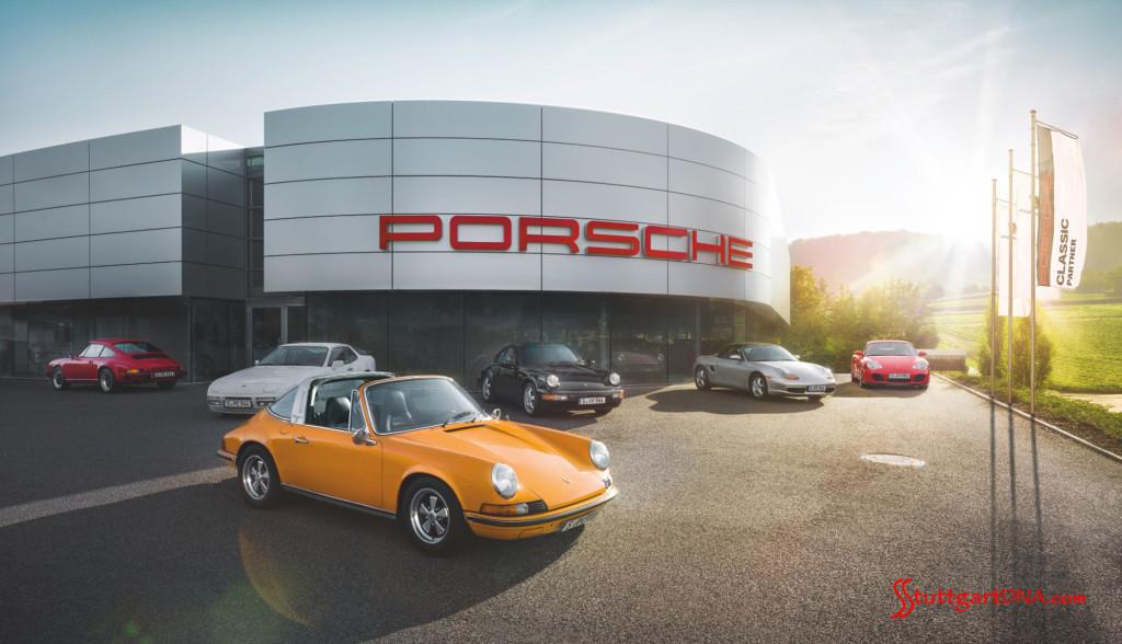 How to search for Porsche cars to buy online: Porsche Classic Partner Center carlot. Credit: Porsche AG