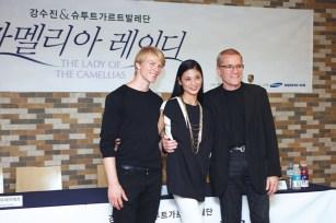 Korea-Gastspiel: DIE KAMELIENDAME - Bei der Pressekonferenz am Montag (Reid Anderson, Sue Jin Kang, Marijn Rademaker)