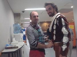 """Japan Gastspiel, Filip Barankiewicz bereitet sich auf die Generalprobe als """"Petrucchio"""" vor, Foto: Stuttgarter Ballett"""