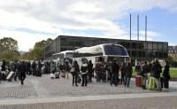 Abreise in Stuttgart