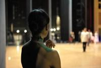 China-Gastspiel, Hyo-Jung Kang am Rande der Bühnenprobe Foto: Roman Novitzky