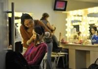 China-Gastspiel, Ji Woo Kwon in der Maske, Foto: Roman Novitzky