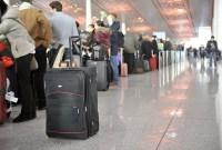China-Gastspiel, Ein letztes Mal beim Checkin am Flughafen anstehen, Foto: Roman Novitzky