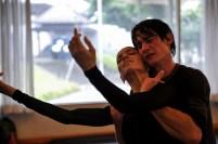 Miriam Kacerova und Alexander Jones bei der Probe des Schluss-Pas de Deux in Onegin
