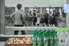 Onegin-Probe im Ballettsaal des Koreanischen Nationalballetts.