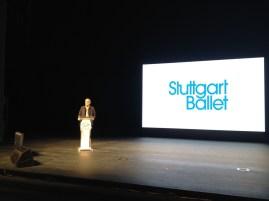 Unser Ballettintendant Reid Anderson hielt eine Keynote Specch beim Forum zum Thema Creativity as the Soul of Ballet