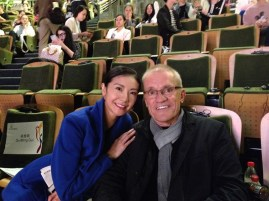 Yuan Yuan Tan und Reid Anderson nach dem Forum