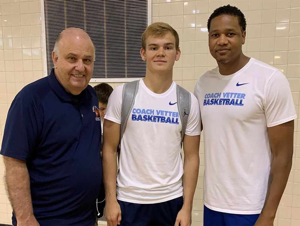 Vetter with Mac McClung