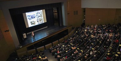 New York, NY, USA - March 22, 2018: Stuyvesant High School Open House for Accepted Students and their families.