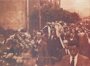 Begrafenis van Cepeda in zijn thuisstad Sopuerta