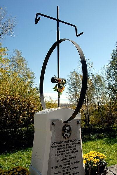 Het graf van Ottavio Bottechia