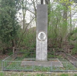 Het graf van Adolf Hunsche in Berlijn
