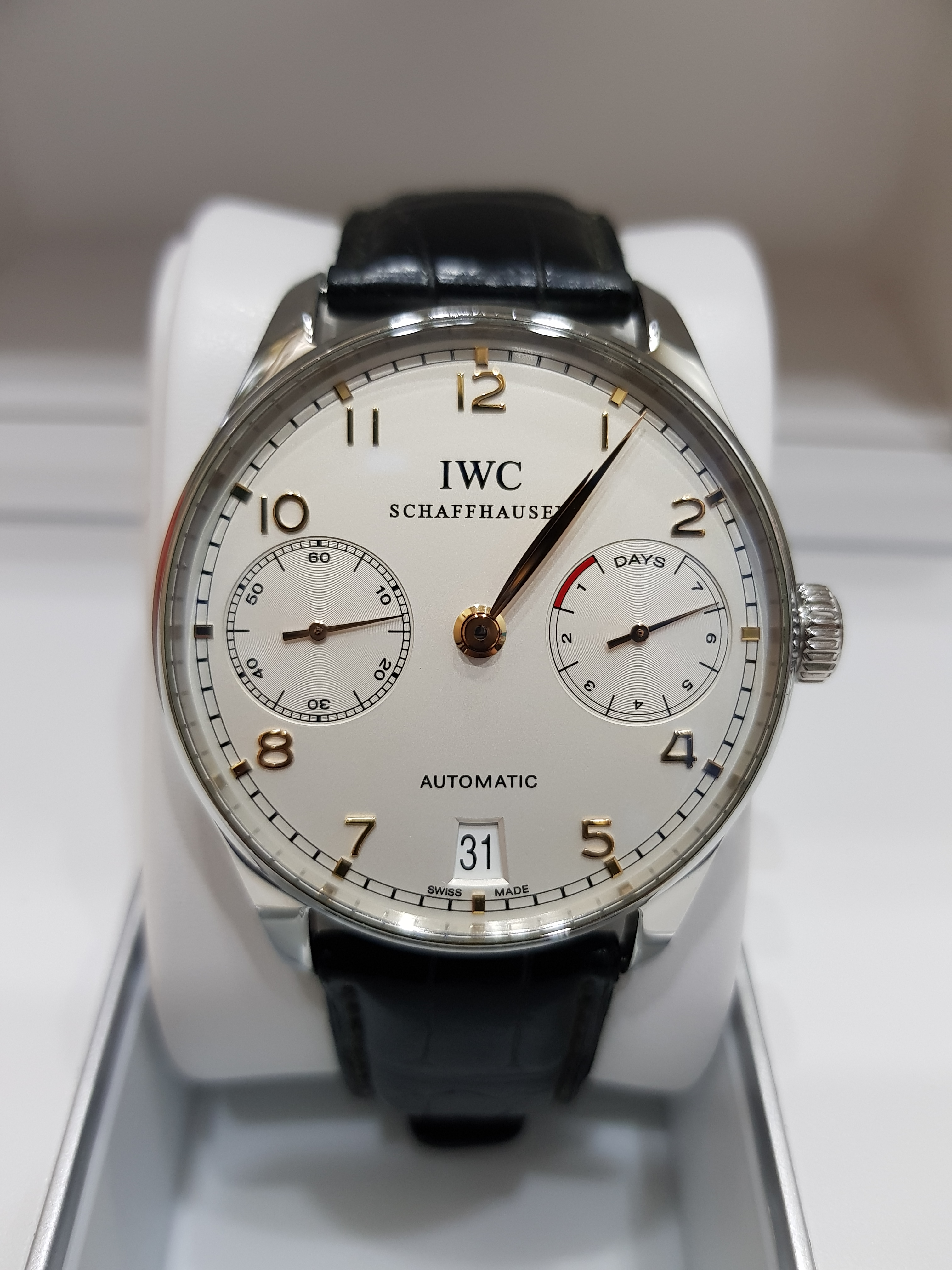 SOLD IWC Portuguese 7 Days IW5001 Pre Owned Watches