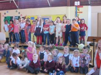 Key Stage 1 sang a Harvest Prayer