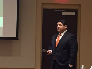 Israel Rocha, Jr., CEO of Doctors Hospital at Renaissance presenting at the Valley Forum