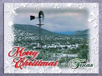 Merry Christmas From Texas Christmas Card In Christmas