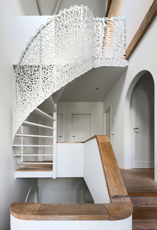 unique staircase designs white lace spiral stairs wood home design