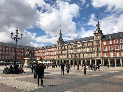 Plaza Mayor in Madrid der bekannteste Anlaufpunkt der Stadt