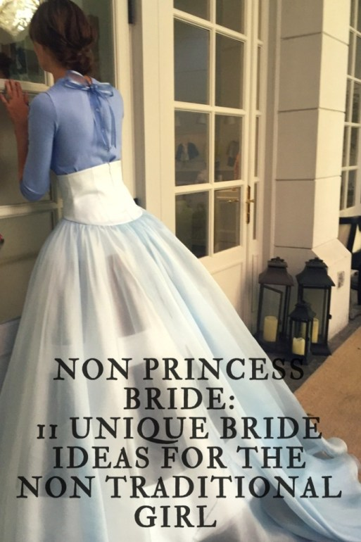 Non Princess Bride: 11 Unique Bride Ideas for the Non Traditional Girl by Style Island