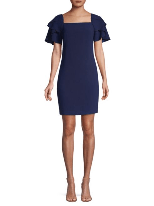 Trina Turk The Tourist Tiered-Sleeve Sheath Dress