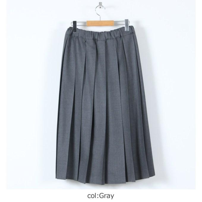 Charpentier de Vaisseau (シャルパンティエ ドゥ ヴェッソ) Pleated Skirt Wool long / プリーツスカートウールロング