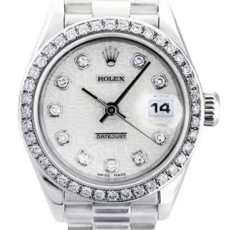 นาฬิกา rolex ที่แพงที่สุด - Rolex Datejust Ladies Platinum Watch