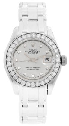 นาฬิกาผู้หญิง - Rolex Ladies Masterpiece White Gold Watch