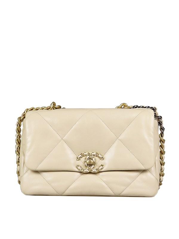 Chanel 19 Flap Bag in Beige