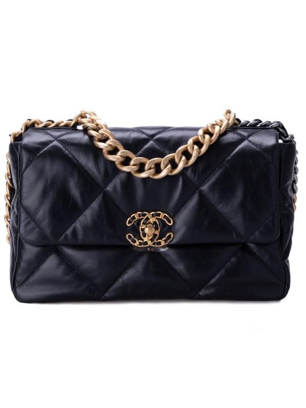 Chanel 19 Flap Lambskin Black
