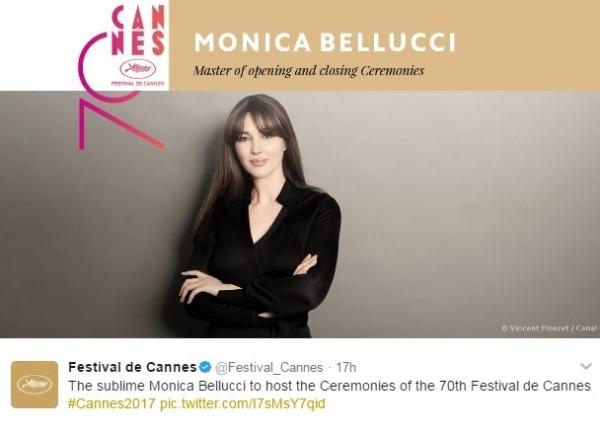 Моника Беллуччи будет ведущей очередного Каннского кинофестиваля