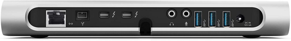 Rear of the Belkin Thunderbolt 2 Express Dock (F4U055) with FireWire port. Source: Amazon