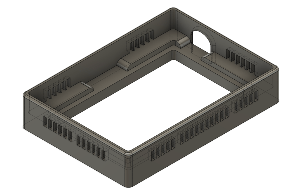 My Raleno 104 lightbox adapter model in Fusion 360
