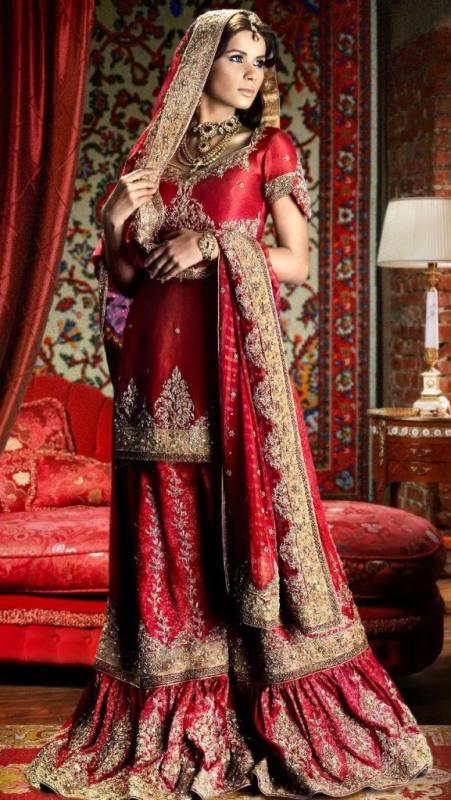 Emboridered Banarsi Gharara For Brides 002