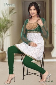 Fancy kurti with shaffon sleeves