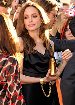 Angelina Jolie HandCuffs Clutch Bag in Toronto