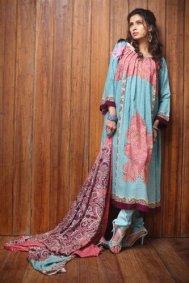 Firdous Linen winter Collection by Firdous Fashion j