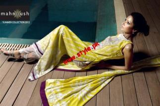 Latest Mahnoush Summer Lawn Casual Wear 2012-008