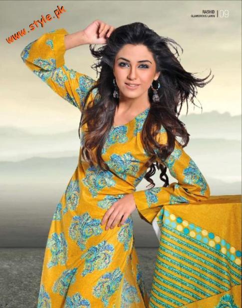 Latest Rashid Lawn Dresses For Summer By Rashid Textiles 2012-004
