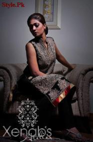 Xenab's Atelier Latest Semi-Formal Wear Dresses 2012-007