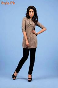 Latest Yellow Casual wear Tops Collection For Women 2012-008