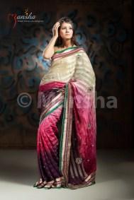 Eid-ul-Fitre 2012 Designer Saree Collection by Mansha003